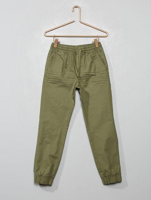 Pantaloni twill                                                                             verde licheno