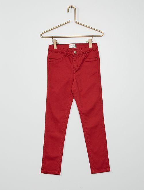 Pantaloni ultra skinny                                                                             rosso