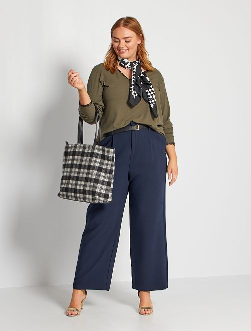 Pantaloni urban con cintura                                         BLU