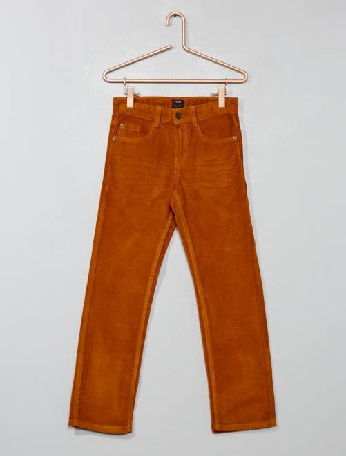 Pantaloni velluto a coste                                                                 GIALLO Infanzia bambino