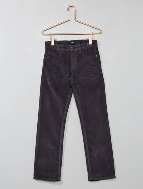 Pantaloni velluto a coste                                                     GRIGIO Infanzia bambino