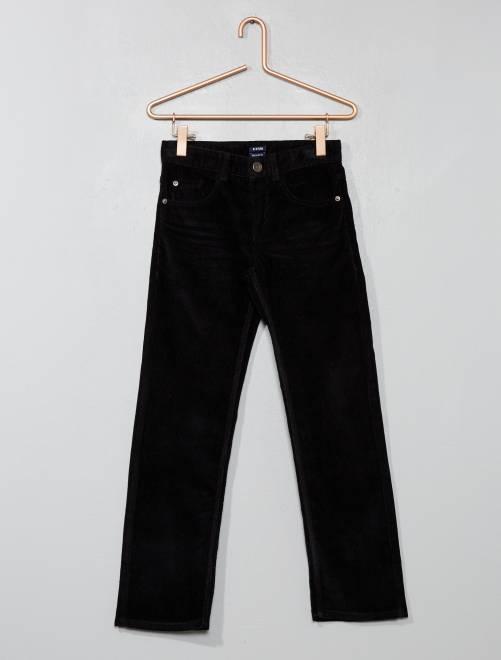 Pantaloni velluto a coste                                                                                         nero Infanzia bambino