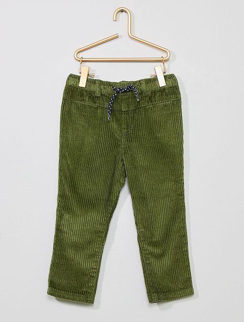 Pantaloni velluto a coste                             verde scuro Neonato