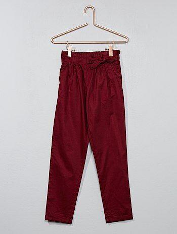 Pantaloni vita plissettata - Kiabi