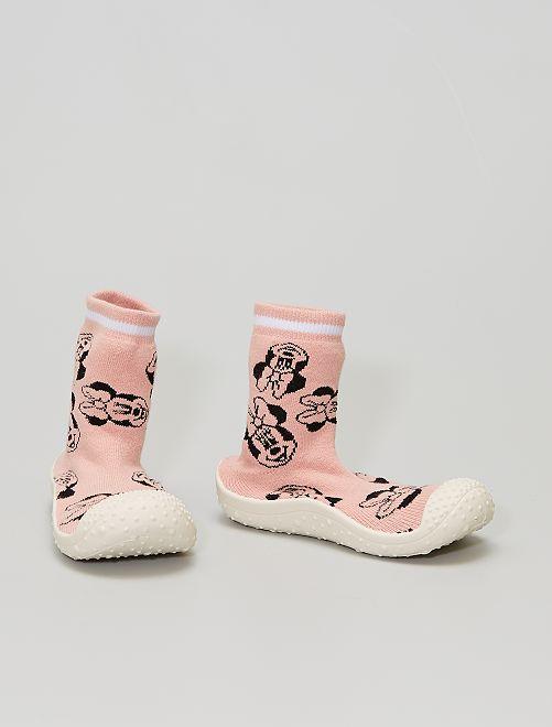 Pantofole a calza 'Minnie' 'Disney'                             rosa
