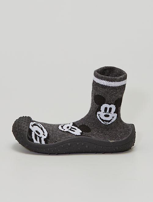 Pantofole a calza 'Topolino'                             grigio