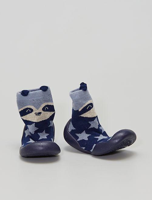 Pantofole a calzino                                         blu navy