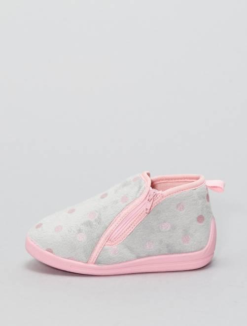 Pantofole a pois glitter                             grigio Infanzia bambina
