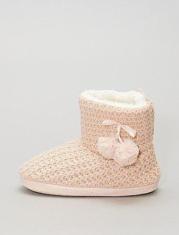 Pantofole a stivaletto lavorate a maglia - Kiabi