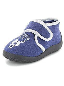 Scarpe bebé - Pantofole alte a strappo 'little hero'