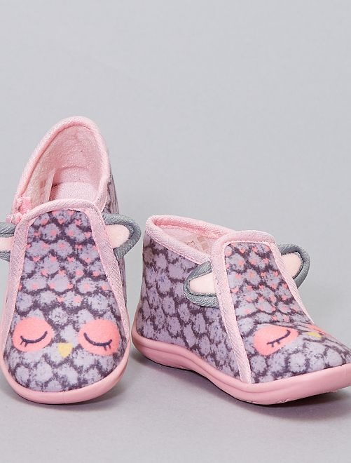 Pantofole alte 'dinosauro'                     grigio
