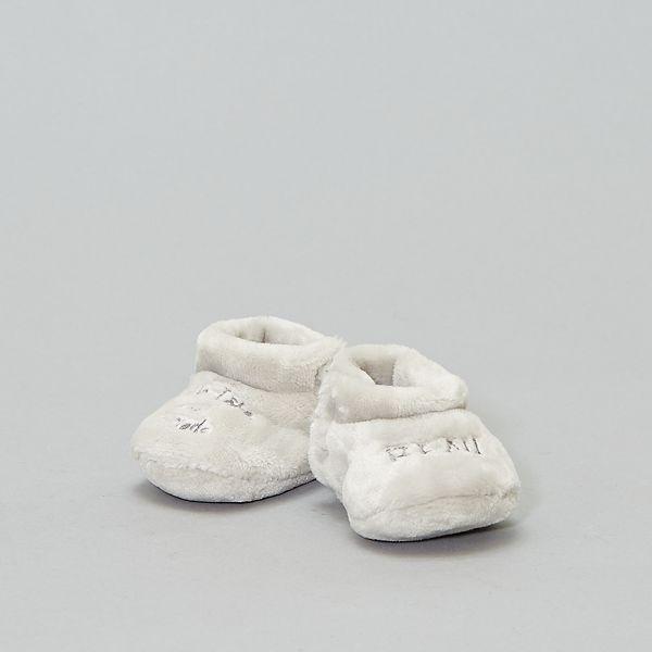 new style afbd9 6109f Pantofole alte pelliccia ecologica Neonato - grigio - Kiabi ...