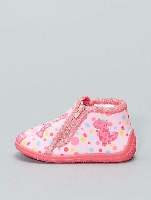 Pantofole alte 'Peppa Pig'                             rosa Infanzia bambina