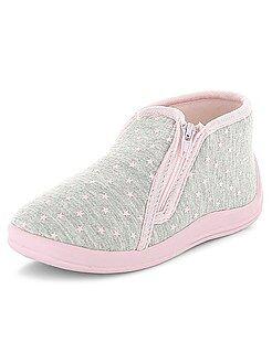 Scarpe, pantofole - Pantofole alte stampa 'cuori'