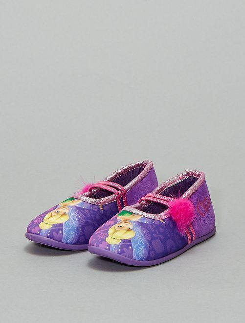 Pantofole ballerine 'Campanellino'                             VIOLA