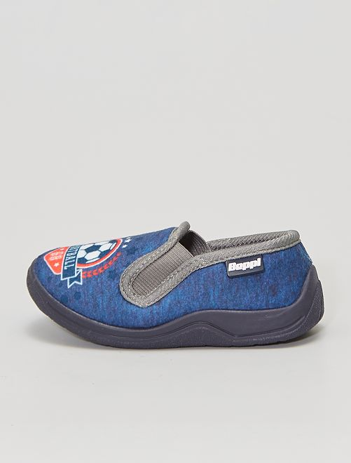 Pantofole 'calcio'                             BLU