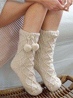 Pantofole - Pantofole calzino fodera sherpa