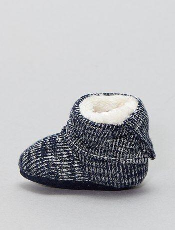 Pantofole calzino foderate di pelliccia - Kiabi