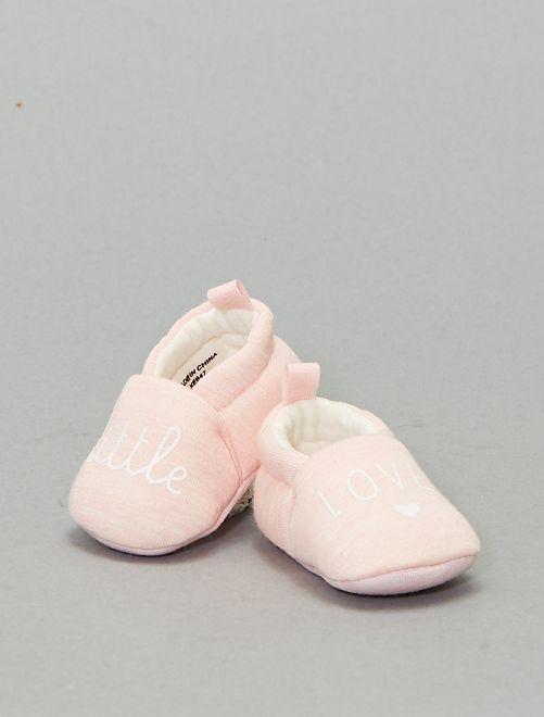 Pantofole con messaggio                                         rosa
