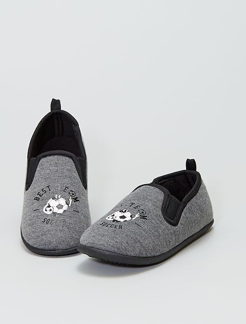 Pantofole con stampa 'calcio'                             KAKI