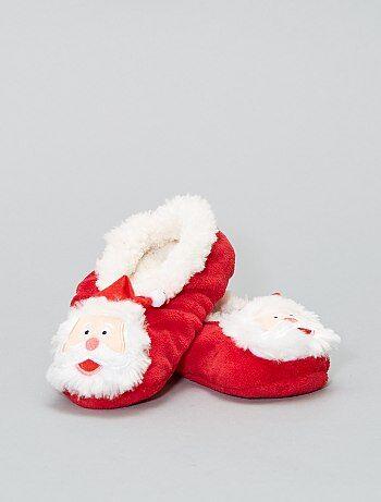Pantofole di Natale foderate di pelliccia - Kiabi