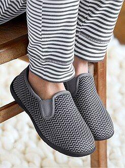 Scarpe ragazzo - Pantofole elasticizzate jersey stampa 'zig-zag'