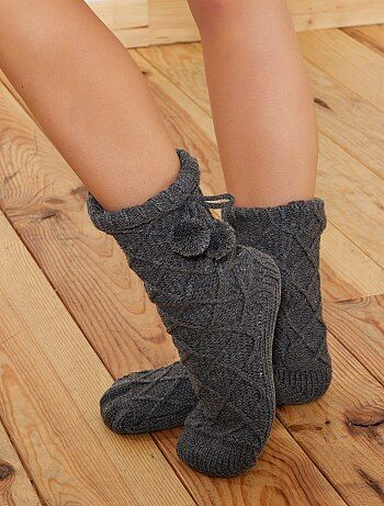 Pantofole fodera sherpa - Kiabi
