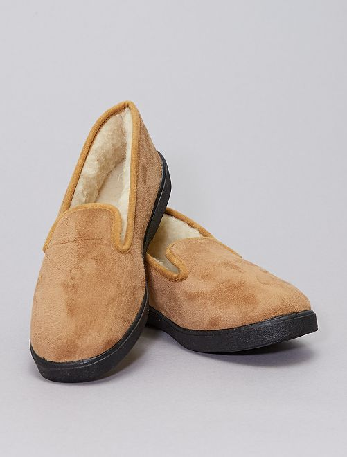 Pantofole imbottite                             cammello