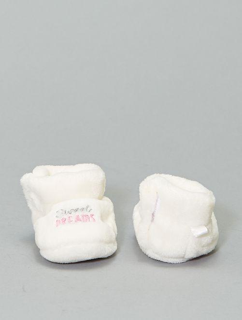 Pantofole in pile 'Disney'                                                     bianco