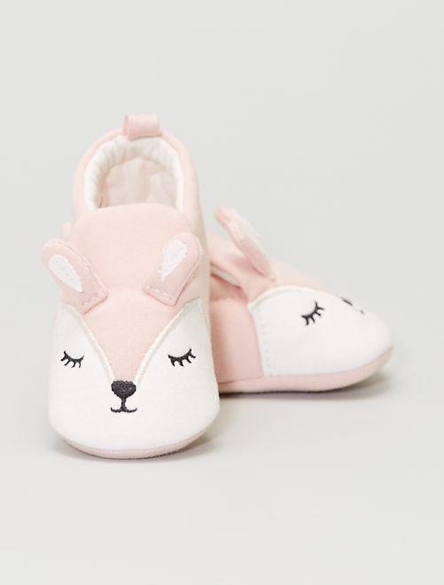 Pantofole in tessuto 'coniglio'                                         ROSA