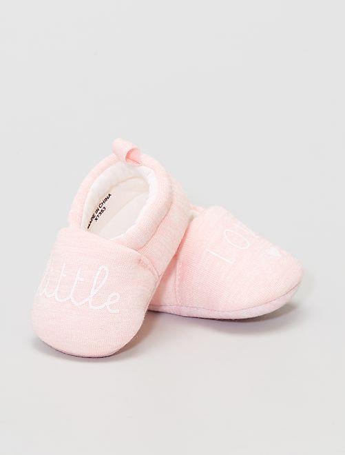 Pantofole in tessuto                                         rosa
