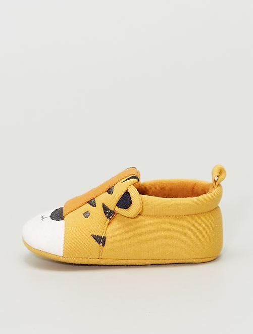 Pantofole in tessuto 'tigre'                                         GIALLO