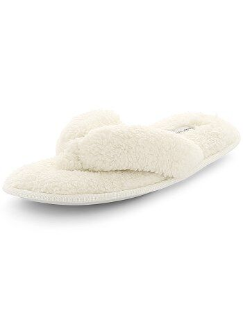 Pantofole infradito peluche - Kiabi