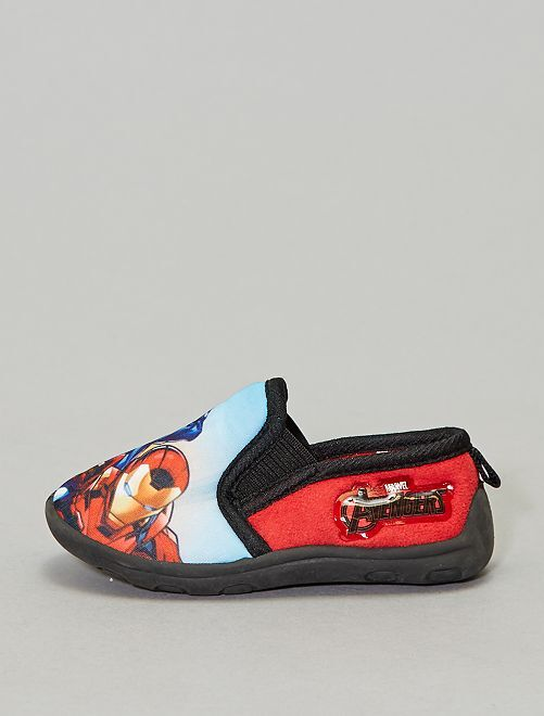 Pantofole morbide elastico 'Avengers'                                         rosso