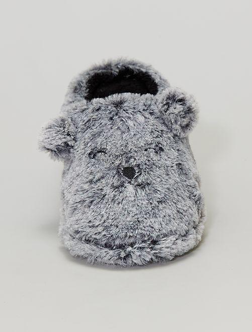 Pantofole 'orso'                             grigio