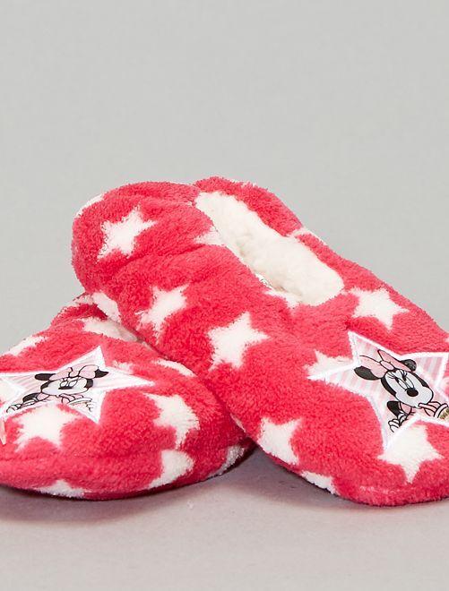 Pantofole pile 'Minnie'                             fucsia