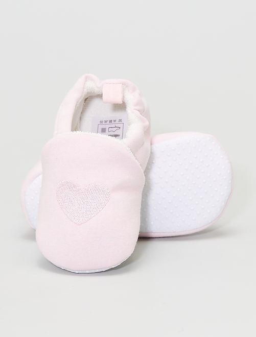 Pantofole ricamate                                                     rosa