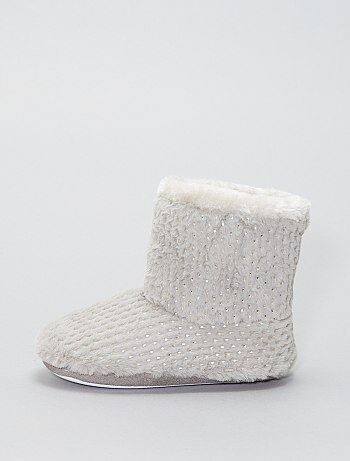 Pantofole stivaletto dettagli dorati - Kiabi