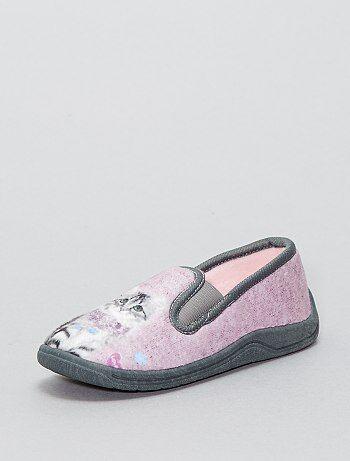 Bambina 3-12 anni - Pantofole tessuto 'gatto' - Kiabi