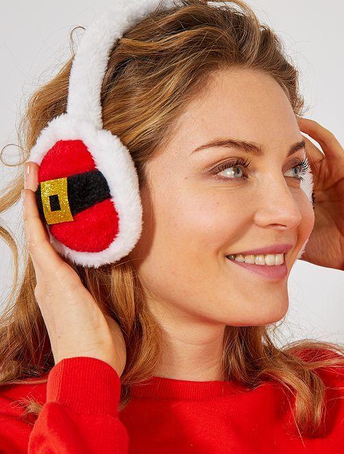Paraorecchie di Natale                             rosso/bianco Accessori