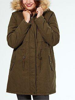 Donna dalla 34 alla 52 Parka caldo con cappuccio pelliccia staccabile