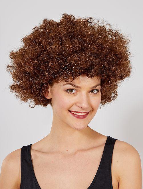 Parrucca afro                                                                                         marrone