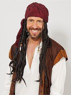 Travestimenti uomo nero - Parrucca da pirata - Kiabi