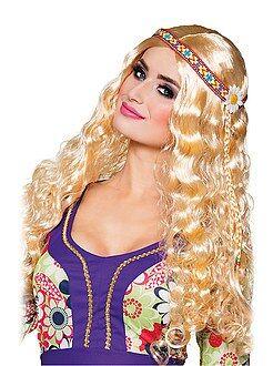 Travestimenti donna - Parrucca hippie con fascia