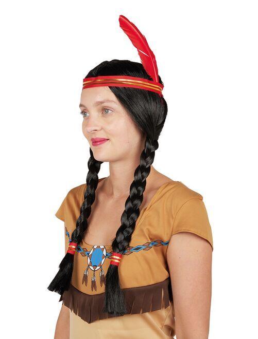 Parrucca indiana                             nero/rosso