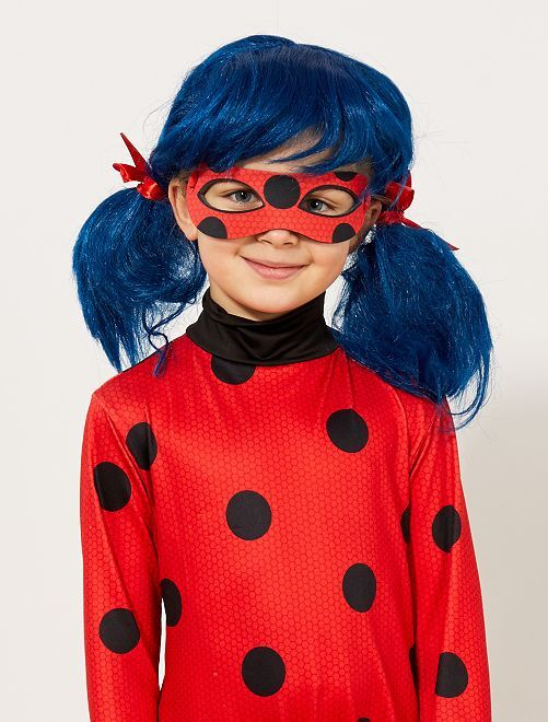 Parrucca 'Ladybug' 'Miraculous'                             bleu/rouge