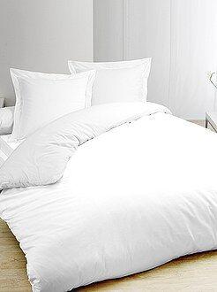 Parure da letto bianca puro cotone - Kiabi