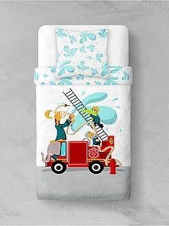Biancheria letto per bambini - Parure da letto 'Pompieri animali' - Kiabi