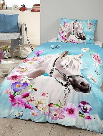 Casa - Parure da letto singolo stampa 'cavallo' - Kiabi
