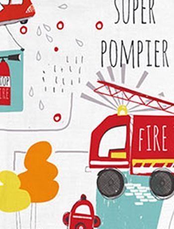 Parure letto 'Camion dei pompieri' Casa - blanc/rouge - Kiabi - 25,00€